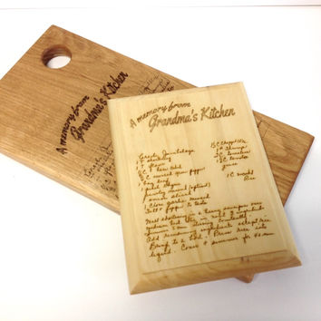 Grandma's Recipe -  Laser-etched to Cutting Board or Plaque