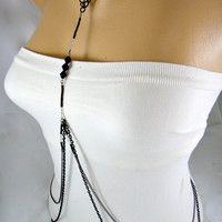 Body Chain Necklace wear it many ways Back by IndependentAccents