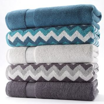 Simple by Design Solid & Chevron Bath Towels