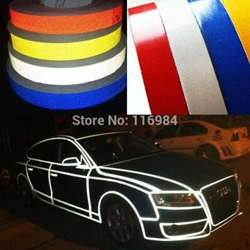 1.0CM x 3Meter DIY 3M Reflective Sticker Automobile luminous strip car&motorcycle&bicycle Decoration Sticker