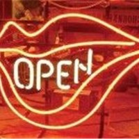 OPEN LIPS NEON LIGHT SIGN Display Shop STORE BEER BAR CLUB Signage 17x14""