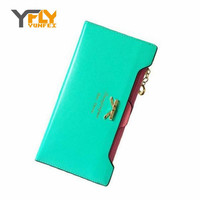 Y-FLY  2016 Fashion PU Women Wallet Multifunctional Long Wallet Vintage Ladies Clutch Thin Cheap Coin Purse Card Holder HB005