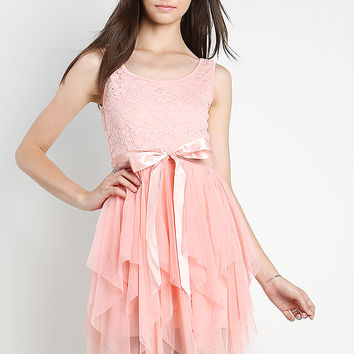 Tulle Overlay Dress