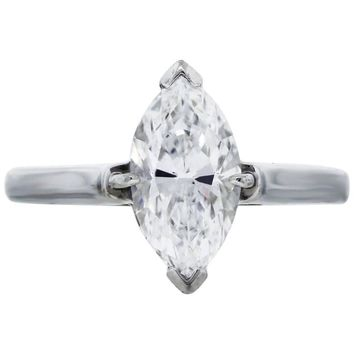 Tiffany & Co. Marquise Cut Solitaire Diamond Engagement Ring