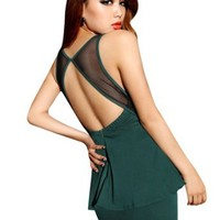 Krazy Sexy Club Cocktail Party Evening Dress #367 Green US Size 0-2 4-6 6-8