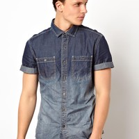 Esprit Dip Dye Denim Shirt