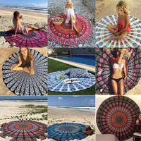 2017 New Bohemian Indian Round Mandala Tapestry Wall Hanging Hippie Boho Beach Throw Towel Yoga Mat Hippy Gypsy Tablecloth Decor
