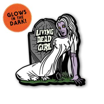 "ROB ZOMBIE ""LIVING DEAD GIRL"" ENAMEL PIN"