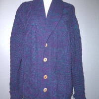 vintage 80's oversized cardigan comfy cozy WHOLESALE