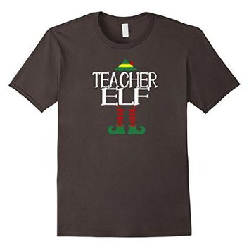 Teacher Elf Tshirt Funny Christmas Party Ugly Sweater
