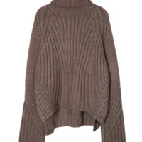 'Maive' Chocolate Brown Turtleneck Sweater