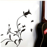 Flower Decorative Wall Sticker(0565-1105100) - $10.01