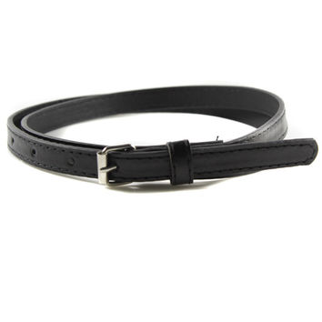 Belts For Women Multi Color Thin Skinny Faux Leather Waistband Casual Belts Strap SM6