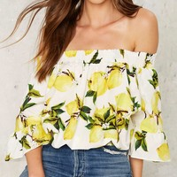 When Life Gives You Lemons Crop Top