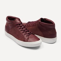Apollo Nubuck High Top Sneakers in Burgundy