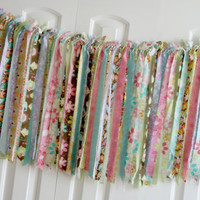 Photography Prop Rag Strip Garland Cottage Shabby