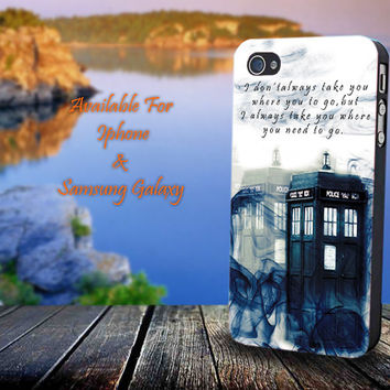 Tardis Dr Who Smoke - Print on hard plastic for iPhone case. Please choose the option.