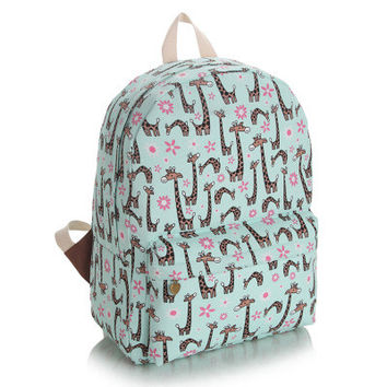 Korean Cute Canvas Lovely Backpack = 4887608708