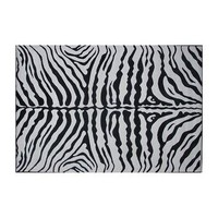 Fun Rugs Supreme Zebra Rug (White/Black)