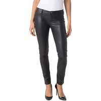 Blank NYC Womens Double Down Vegan Leather Spray On Skinny Pants