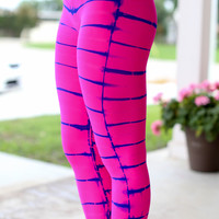 Tye Dye Get Fit Leggings - Pink