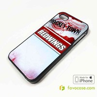 DETROIT REDWINGS Ice Hockey Team NHL iPhone 4/4S 5/5S/SE 5C 6/6S 7 8 Plus X Case Cover
