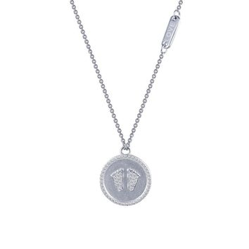 Lafonn Rhonda Faber Green Sterling Silver Platinum Plated Lassire Simulated Diamond Necklace (0.62 CTTW)