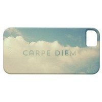 "Cool Vintage Cloud Blue Sky ""Carpe Diem"" Photo iPhone 5 Cover"