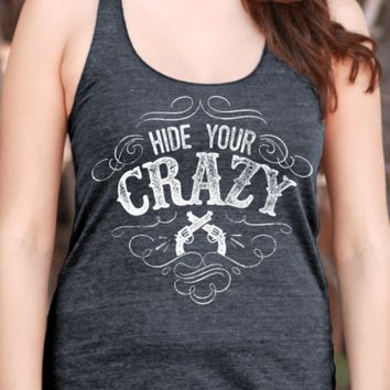 Hide Your Crazy | Women's Racerback Tank Top