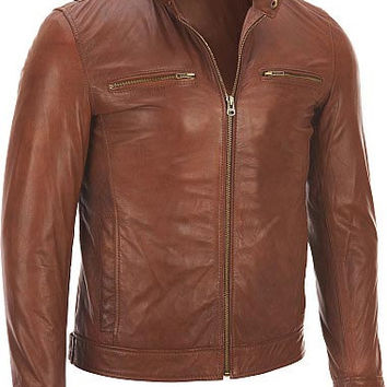 Men leather jacket, men brown leather jacket, pure leather jacket for men, mens biker leather jacket