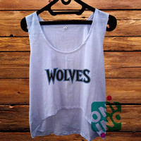Minnesota Timberwolves Crop Tank Women's Cropped Tank Top