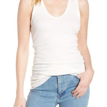 James Perse Double Layer Cotton & Cashmere Tank | Nordstrom