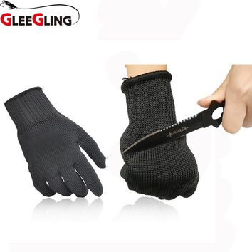 GLEEGLING Anti-cutting Outdoor Hunting Fishing Gloves Self Defense Cut Resistant Fishing Hook Anti-cutting Protection Gloves