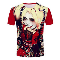 2016 New Arrival 3D Printed Unisex t-shirt suicide squad shirt joker & harley quinn Cool Funny Printing T-shirt Tops tees