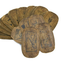 Antique Tarot Cards. 19th Century French Fortune Telling Cards. Antique Divination Cards.