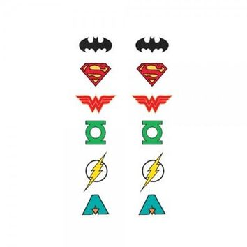 Classic Justice League 6 Pack Earrings