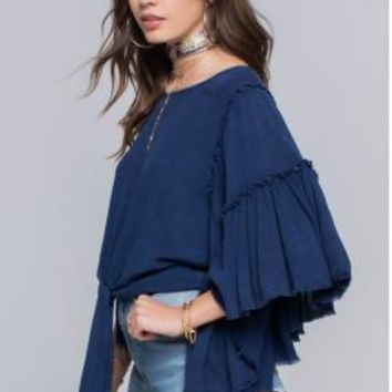 MINERAL WASHED TIERED TOP - BAND OF GYPSIES