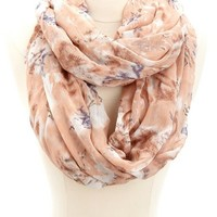 WATERCOLOR PRINT INFINITY SCARF