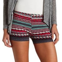 TRIBAL PRINT COTTON SPANDEX SHORTS