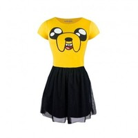 Adventure Time Jake Happy Face Fit & Flare Tulle Dress