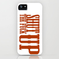 """Shhhhh"" iPhone & iPod Case by DanielBergerDesign 
