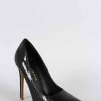 Shoe Republic Snake Skin Pointy Toe Stiletto Pumps