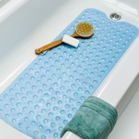 Extra Long Vinyl Bath Mat - Blue
