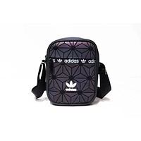Adidas Geometric single shoulder bag recreational diamond-shaped travel Mini-Bag