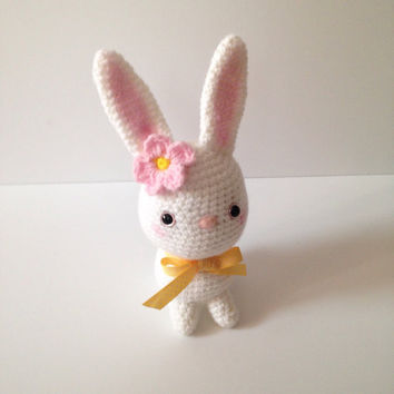 Amigurumi Bunny Easter Bunny Crochet  Bunny Rabbit Crochet Doll Chubby Bunny Toy Plush Kids Toy Kawaii Doll Easter Gift Idea