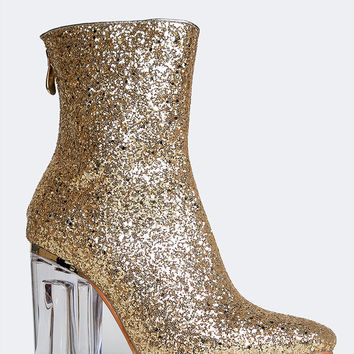 Glitter Ankle Bootie