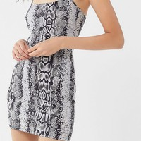 Motel Selest Snake Print Mini Dress | Urban Outfitters