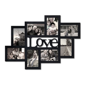 """Love"" 8 Opening Collage Picture Frame"