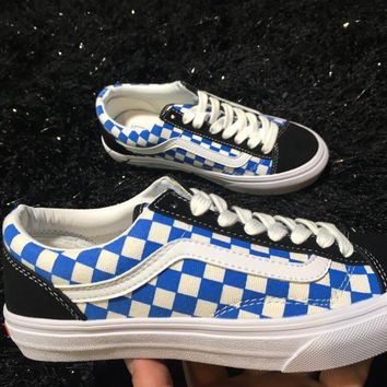 LMFON Vans Old Skool Style 36 Blue Low Tops Flats Shoes Canvas Sneakers Sport Shoes