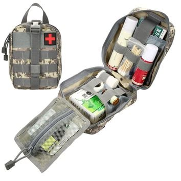 Tactical Rip-Away EMT Pouch Molle Pouch Waist Pack Medical First Aid Kit Utility Pouch for Hunting Military Camping Climbing